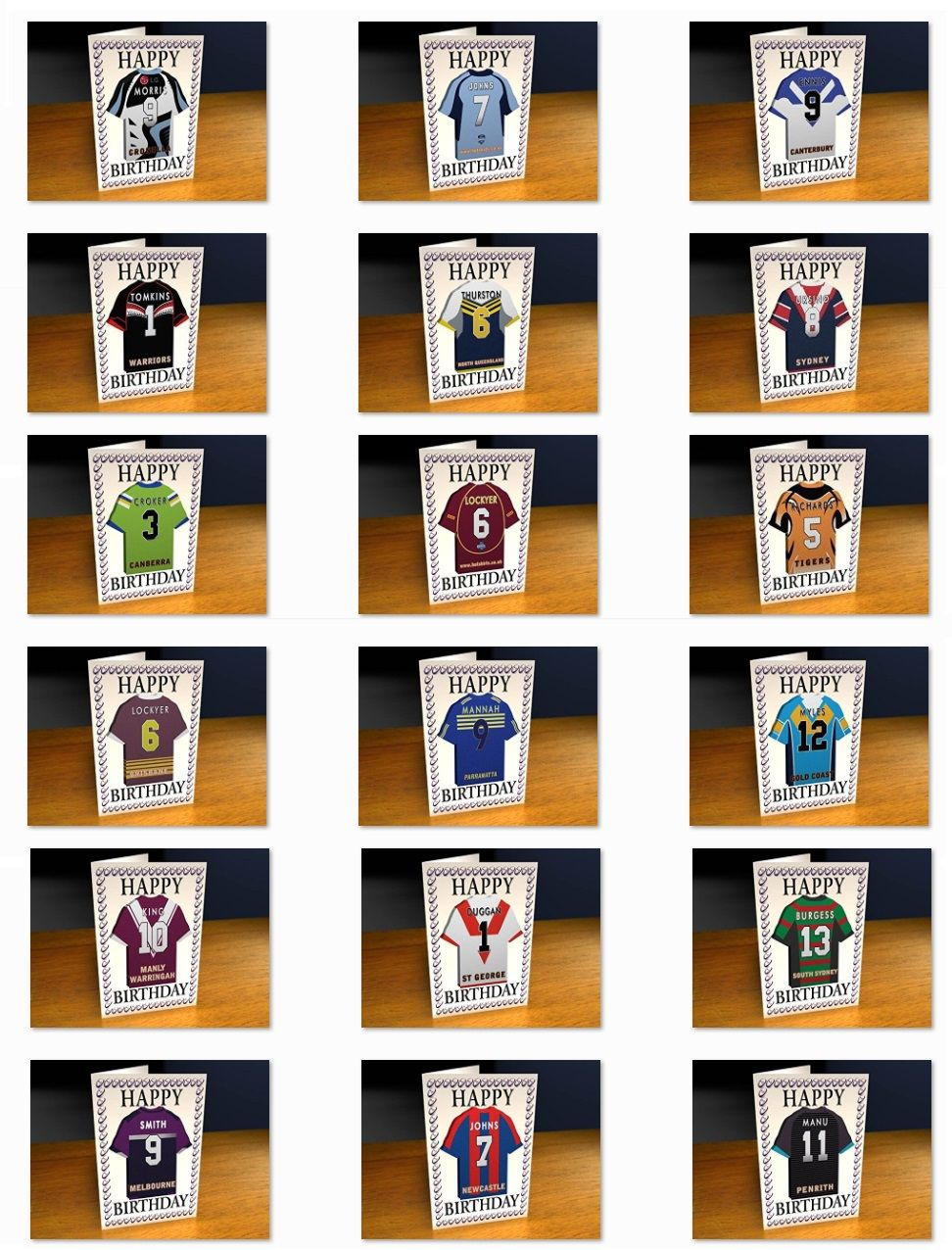 Gifts shop and rugby gifts store supplying unique novelty unusual personalised your rugby shirt greeting card nrl australia kristyandbryce Images